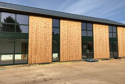 A J Collison & Sons, newly built premises with air source heat pump system