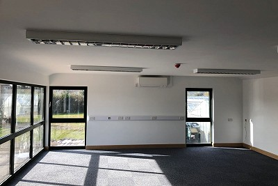 A J Collison & Sons, inside newly built premises with air source heat pump system